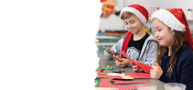 Julpyssla med barn