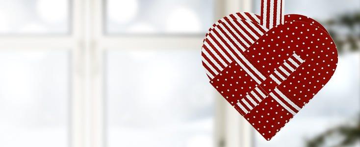 Flätade julhjärtan