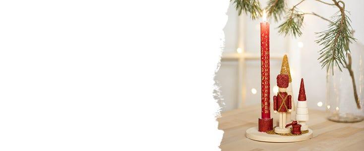 Juldekorationer, julljus och kalenderljus