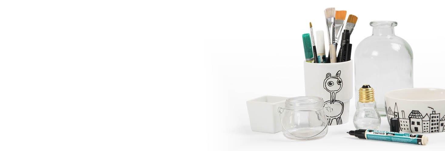Porslins- och glasdekorationer