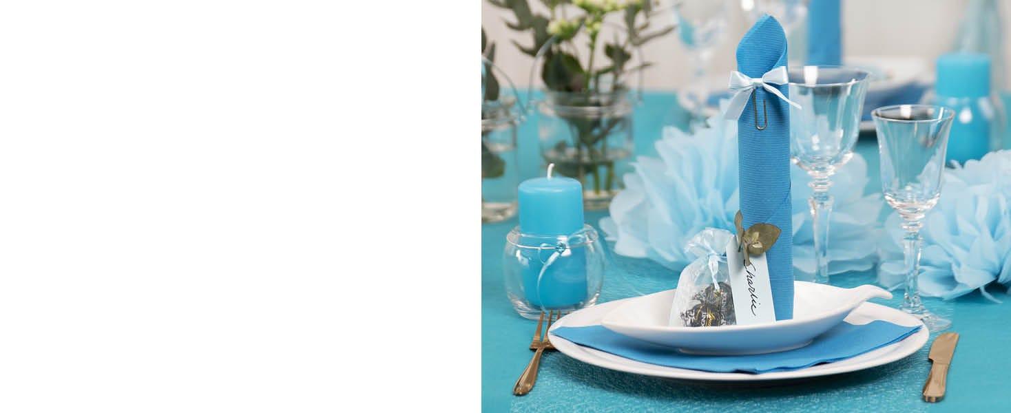 Dukning och bordsdekoration till konfirmation