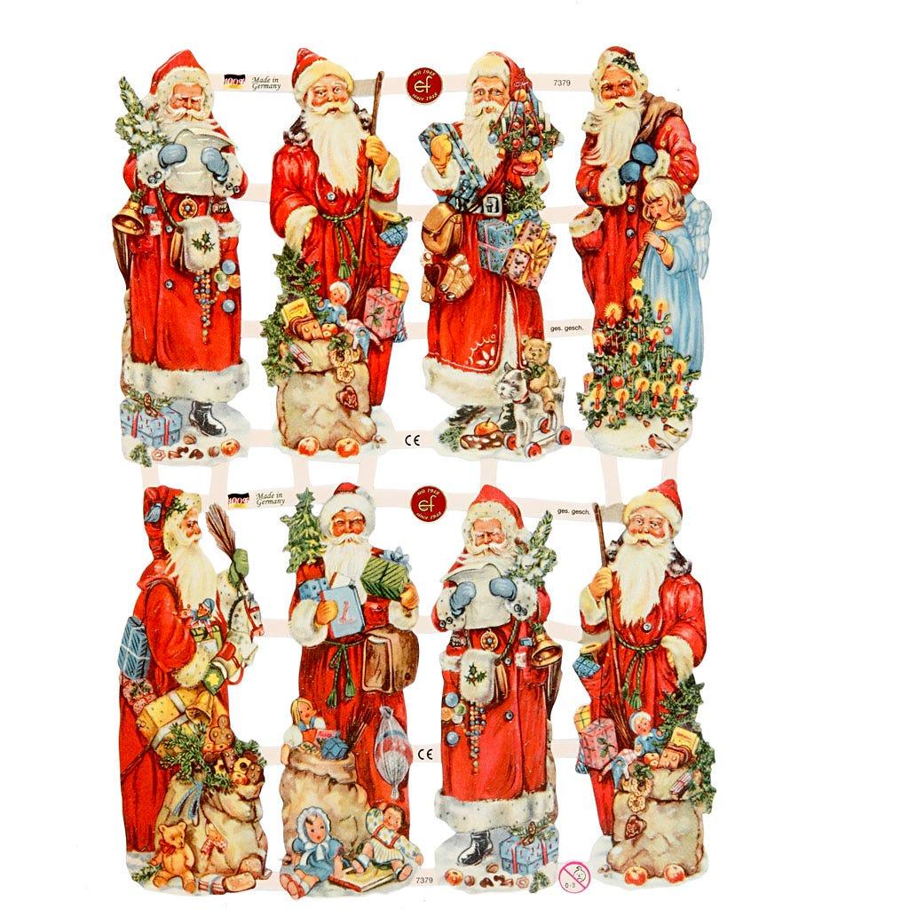 Bokmärken Klassiska jultomtar 3 ark