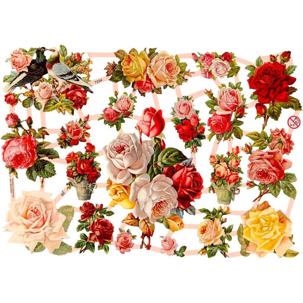 Bokmärken Nostalgiska rosor 3 ark