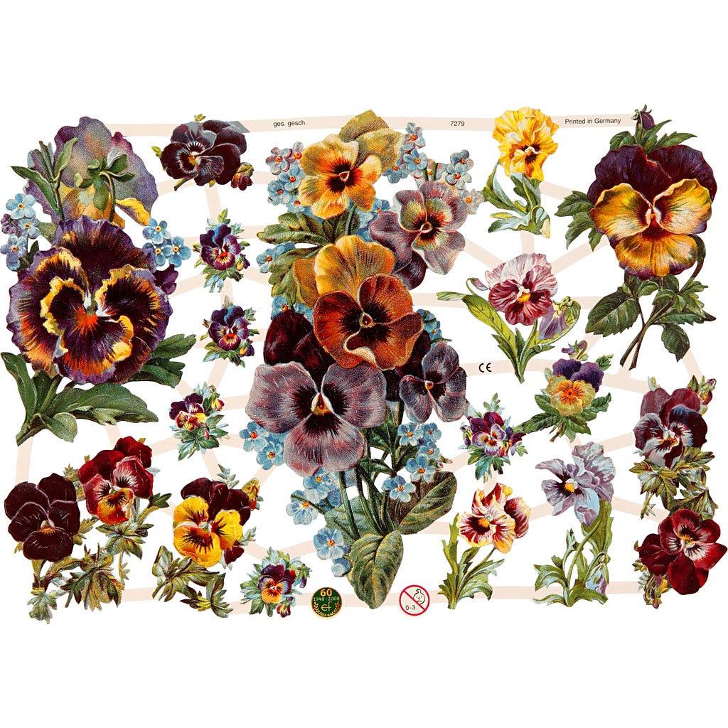 Bokmärken Blommor 3 ark