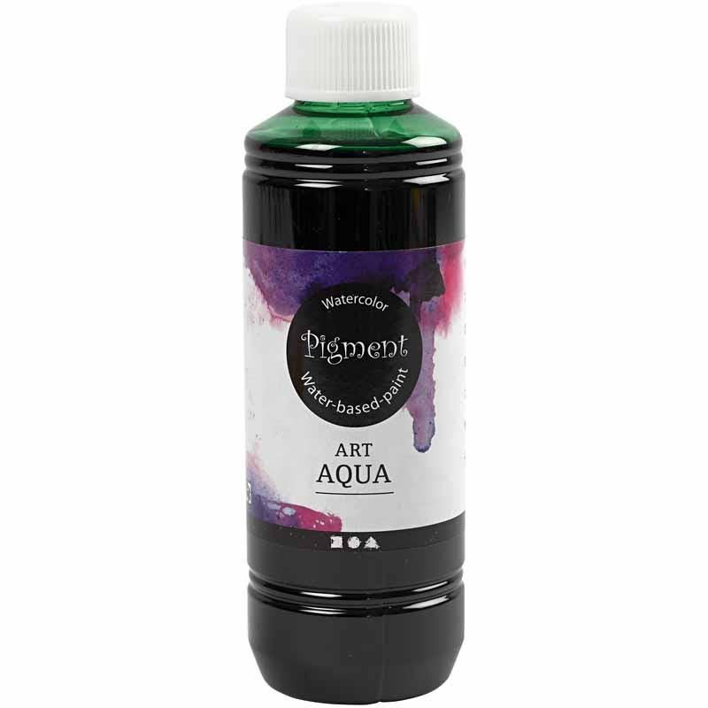 Art Aqua Pigment, grön, 250 ml