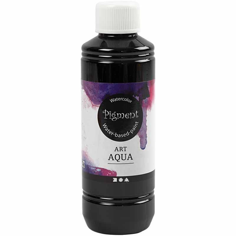Art Aqua Pigment, svart, 250 ml