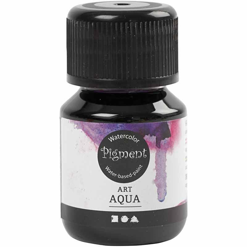 Art Aqua Pigment, rödviolett, 30 ml