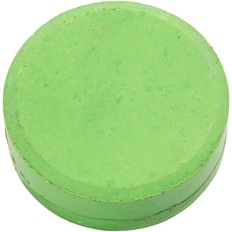Colortime - Vattenfärger, dia. 44 mm, grön, Refill, 6 st.
