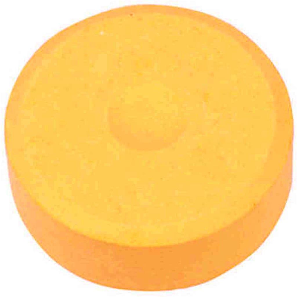 Colortime - Vattenfärg, dia. 44 mm, ljusorange, Refill, 6 st.
