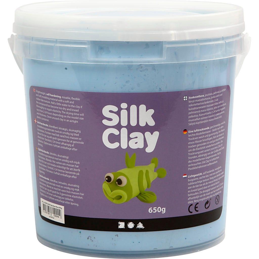 Silk Clay - Neonblå, 650 g