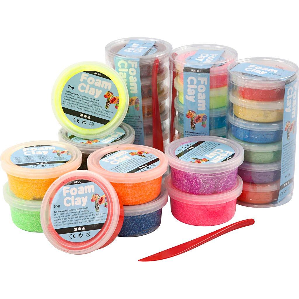 Foam Clay - Mixade färger 28 burkar