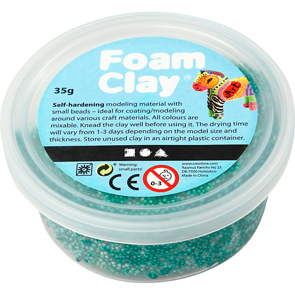 Foam Clay - Mörkgrön 35 g