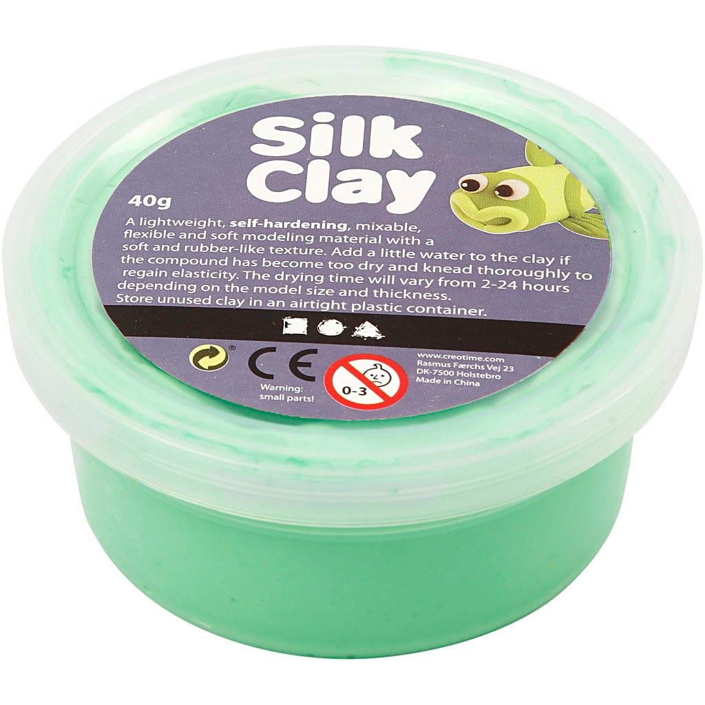 Silk Clay - Ljusgrön, 40 g