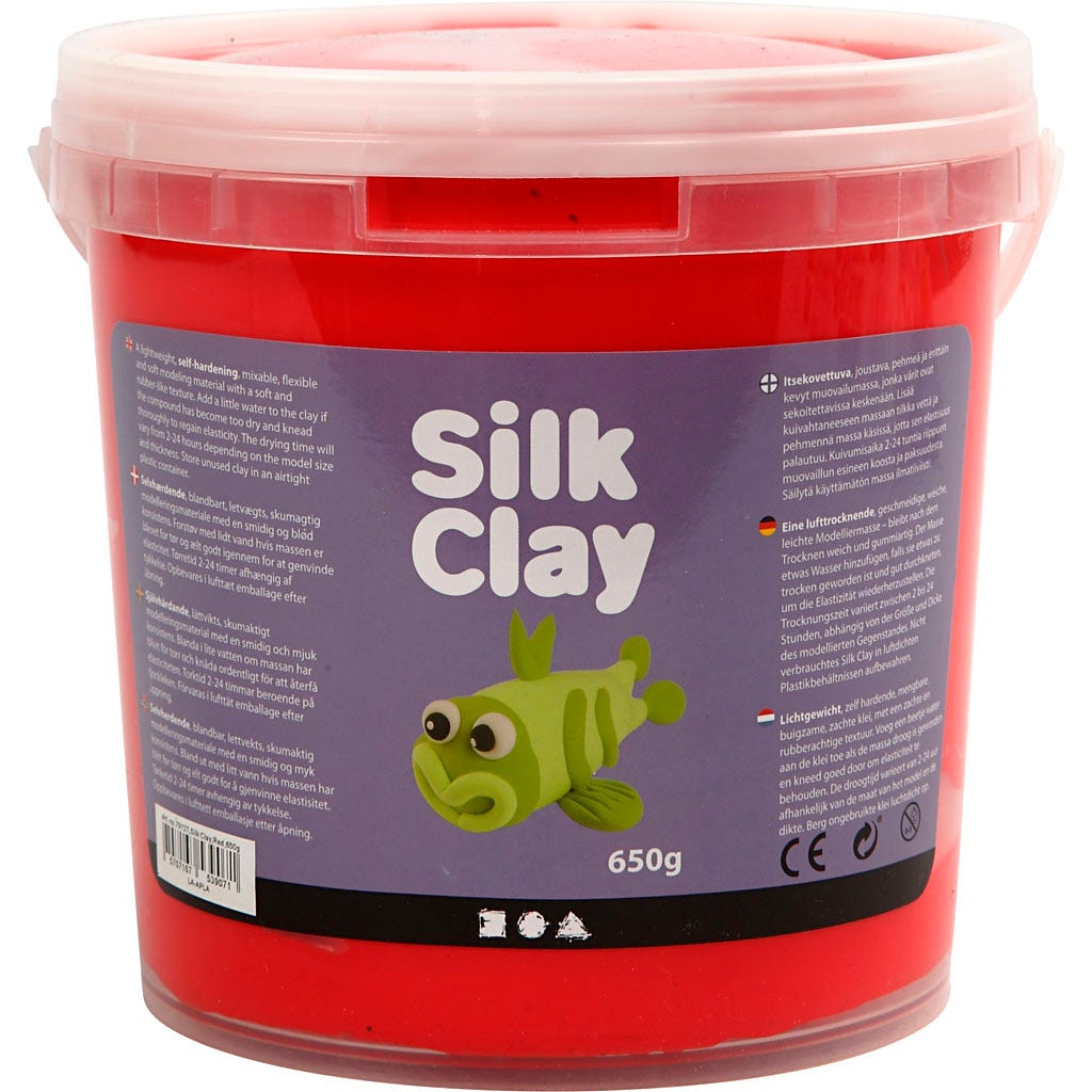 Silk Clay - Röd, 650 g