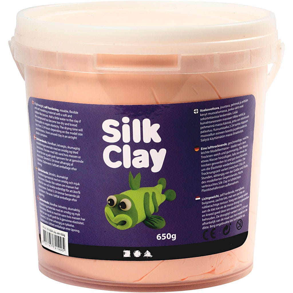 Silk Clay - Ivory, 650 g