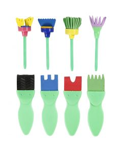 Mossgummi penslar, L: 11-13 cm, B: 30-45 mm, 24 st./ 1 förp.