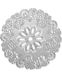 Skär och prägelschablon, blommor, Dia. 10,5 cm, 1 st.