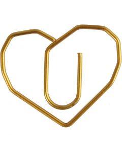 Gem, hjärta, stl. 30x20 mm, guld, 6 st./ 1 förp.
