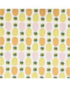 Presentpapper, ananas, B: 50 cm, 80 g, 5 m/ 1 rl.
