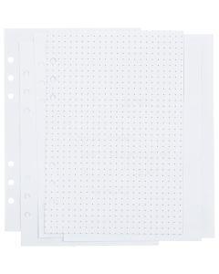Notatpapper, dots, stl. 142x210 mm, 36 , 120 g, vit, 1 st./ 1 förp.