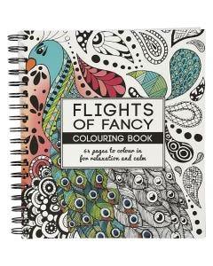Antistress målarbok, Flights of Fancy, stl. 19,5x23 cm, 64 , 1 st.