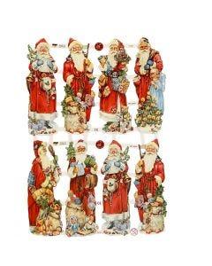 Bokmärken, jultomte, 16,5x23,5 cm, 3 ark/ 1 förp.