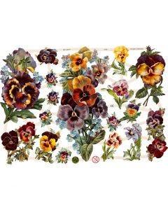 Bokmärken, Blommor, 16,5x23,5 cm, 3 ark/ 1 förp.