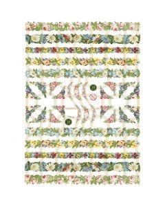 Bokmärken, Blomsterrankor, 16,5x23,5 cm, 3 ark/ 1 förp.