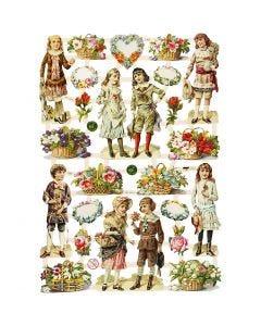 Bokmärken, Barn och mönster, 16,5x23,5 cm, 3 ark/ 1 förp.