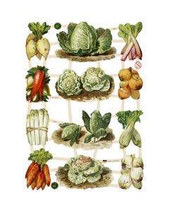 Bokmärken, Grönsaker, 16,5x23,5 cm, 3 ark/ 1 förp.