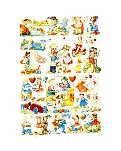 Bokmärken, barn, 16,5x23,5 cm, 2 ark/ 1 förp.