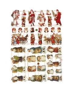 Bokmärken, Jultomten, 16,5x23,5 cm, 2 ark/ 1 förp.