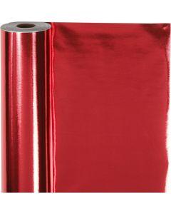 Presentpapper, B: 50 cm, 65 g, röd, 100 m/ 1 rl.