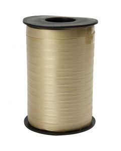 Presentband, B: 10 mm, matt, guld, 250 m/ 1 rl.