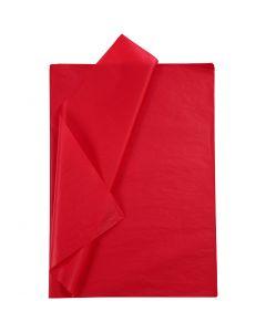 Silkespapper, 50x70 cm, 14 g, röd, 10 ark/ 1 förp.