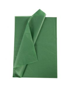 Silkespapper, 14 g, grön, 10 ark/ 1 förp.