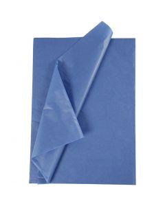 Silkespapper, 50x70 cm, 14 g, blå, 10 ark/ 1 förp.