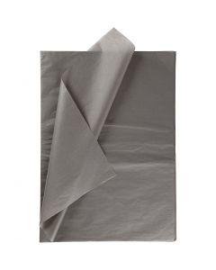 Silkespapper, 50x70 cm, 14 g, mörkgrå, 10 ark/ 1 förp.