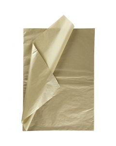 Silkespapper, 50x70 cm, 14 g, guld, 6 ark/ 1 förp.
