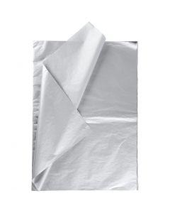 Silkespapper, 50x70 cm, 14 g, silver, 6 ark/ 1 förp.