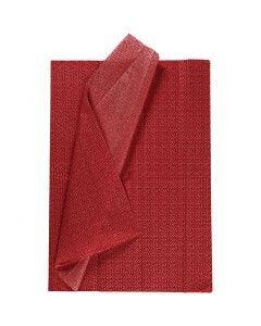 Silkespapper, 50x70 cm, 17 g, röd, 6 ark/ 1 förp.