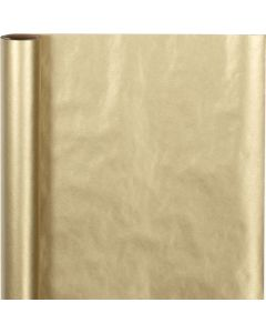 Presentpapper, B: 50 cm, 60 g, guld, 5 m/ 1 rl.
