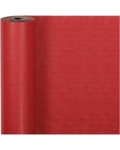 Presentpapper, B: 50 cm, 60 g, röd, 100 m/ 1 rl.