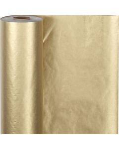 Presentpapper, B: 50 cm, 60 g, guld, 100 m/ 1 rl.
