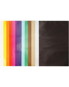 Glanspapper, 24x32 cm, 80 g, mixade färger, 50 ark/ 1 förp.