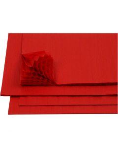 Dragspelspapper, 28x17,8 cm, röd, 8 ark/ 1 förp.