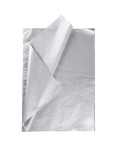 Silkespapper, 50x70 cm, 14 g, silver, 25 ark/ 1 förp.
