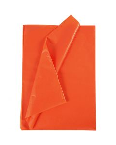 Silkespapper, 50x70 cm, 17 g, orange, 25 ark/ 1 förp.