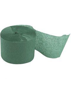 Kräppapper, rulle, L: 20 m, B: 5 cm, grön, 20 rl./ 1 förp.
