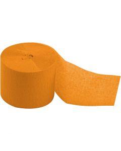Kräppapper, rulle, L: 20 m, B: 5 cm, gul, 20 rl./ 1 förp.
